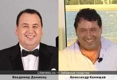 Футболист Александр Канищев и юморист Владимир Данилец