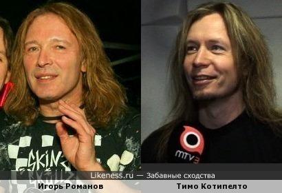 Певец Тимо Котипелто (Stratovarius) и гитарист Игорь Романов (Земляне)