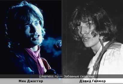 Мик Джаггер и Дэвид Гилмор... Pink Stones