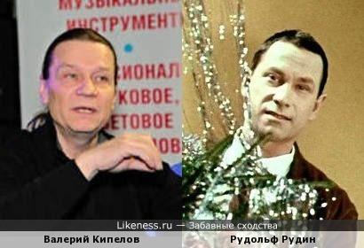 Актёр Рудольф Рудин и певец Валерий Кипелов