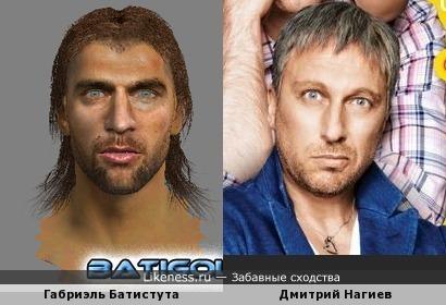 ГабриэльБатистута из компьютерной игры очень напоминает Дмитрия Нагиева