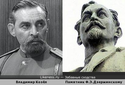 Актёр Владимир Козел и памятник Ф.Э.Дзержинскому