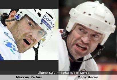 Хоккеисты Максим Рыбин и Марк Месье