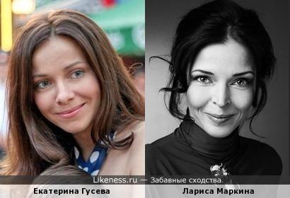 Актрисы Екатерина Гусева и Лариса Маркина