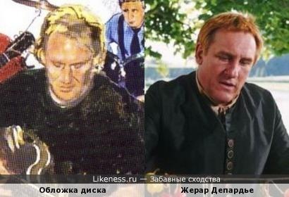 Актёр Жерар Депардье на обложке диска Элвина Ли
