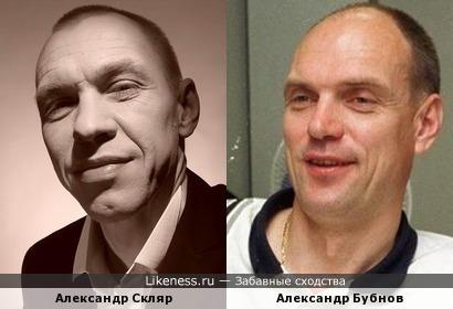 Музыкант Александр Скляр и футбольный эксперт Александр Бубнов