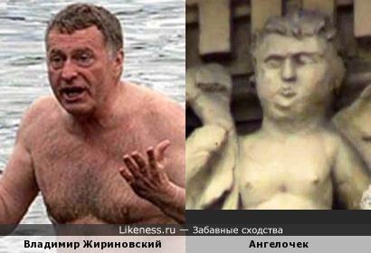 Владимир Жириновский Злая шутка рестраврации: ...ангел Невского проспекта