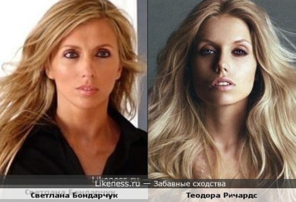 Дочь Кейта Ричардса Теодора и Светлана Бондарчук