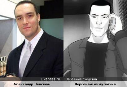 """Персонаж м/ф """"Очень мрачное кино"""" и бодибилдер Александр Невский"""