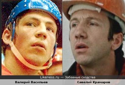 Хоккеист Валерий Васильев и Савелий Крамаров