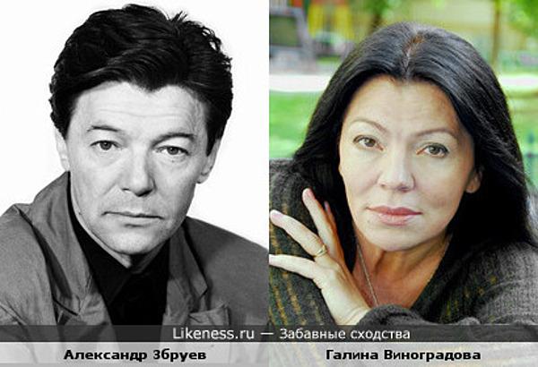 Александр Збруев и Галина Виноградова ( наверное брат и сестра..)