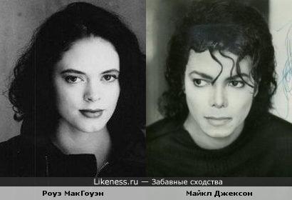 Роуз МакГоуэн похожа на Майкла Джексона