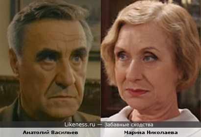 Анатолий Васильев похож на Марину Николаеву