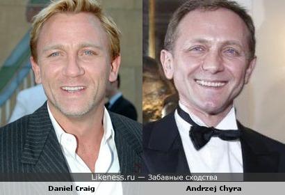 Andrzej Chyra похож на Daniel Craig