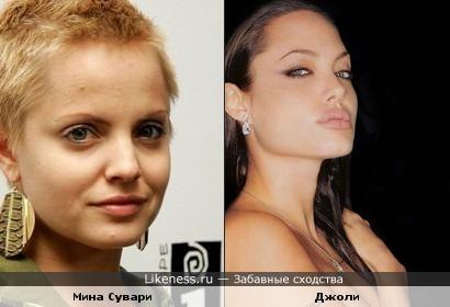 Мина Сувари похожа на Анжелину до ботекса на губах
