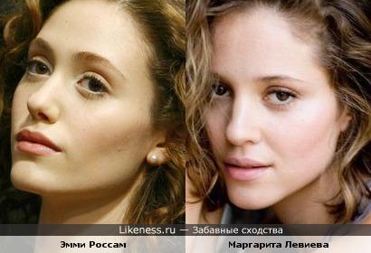 Эмми Россам похожа на Маргариту Левиеву