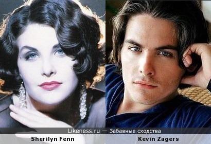 Sherilyn Fenn и Kevin Zagers - близнецы