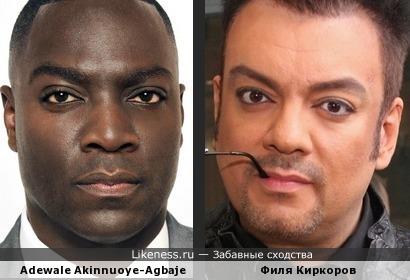 Киркоров - белый брат Adewale Akinnuoye-Agbaje