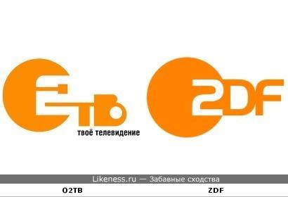Логотип О2ТВ похож на логотип немецкого канала ZDF