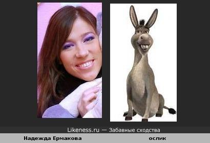 Надежда Ермакова похожа на осла