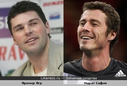 Хоккеист Яромир Ягр и теннисист Марат Сафин