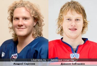 Триумфаторы молодежного чемпионата мира по хоккею 2011 года Андрей Сергеев и Даниил Собченко