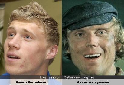 Футболист Павел Погребняк и актер Анатолий Рудаков