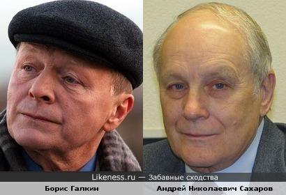 Актер Борис Галкин и историк Андрей Сахаров