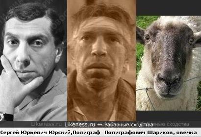 Сергей Юрский, Владимир Толоконников в роли Шарикова, и милая овечка