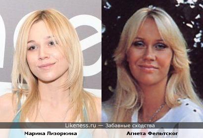 """Бывшая участница группы """"Серебро"""", художница Марина Лизоркина и также бывшая участница группы """"ABBA"""" Агнета Фельтског"""