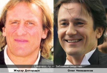 Жерар Депардье и Олег Меньшиков имеют небольшое сходство