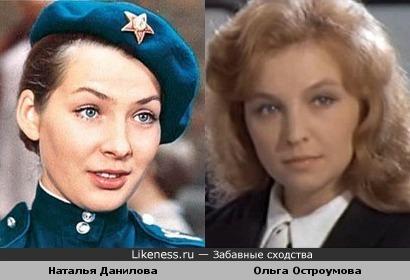 Актрисы Наталья Данилова и Ольга Остроумова