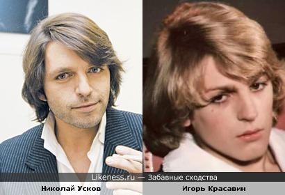Главный редактор журнала GQ Николай Усков и актер Игорь Красавин