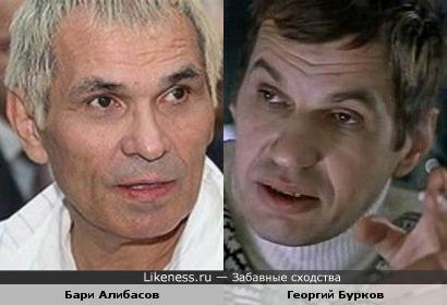 Актер Георгий Бурков и продюсер Бари Алибасов