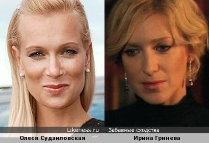 Актрисы Олеся Судзиловская и Ирина Гринева