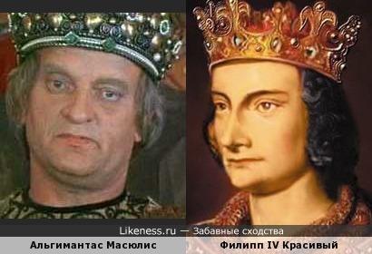 Альгимантас Масюлис в роли принца Джона напомнил французского короля Филиппа Красивого