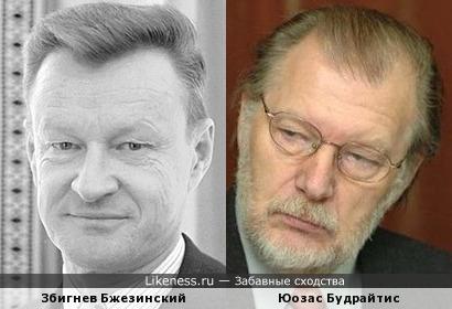 Збигнев Бжезинский и Юозас Будрайтис