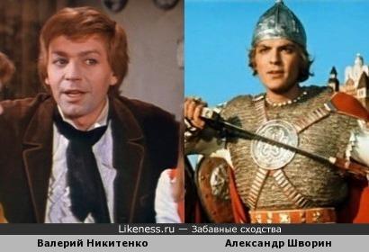 Актеры Валерий Никитенко и Александр Шворин