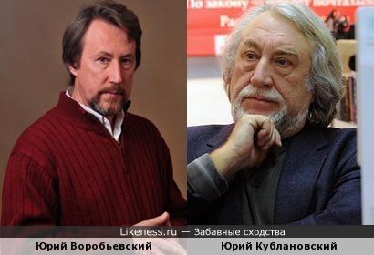 Писатели Юрий Воробьевский и Юрий Кублановский