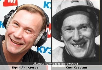 Актеры Юрий Анпилогов и Олег Савосин
