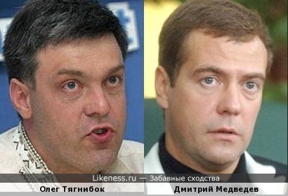 Олег Тягнибок и Дмитрий Медведев