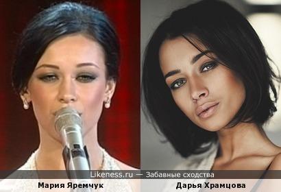 Евровизионерка Мария Яремчук и актриса Дарья Храмцова