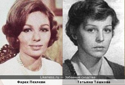 Фарах Пехлеви и Татьяна Ташкова