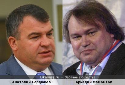 Анатолий Сердюков и Аркадий Мамонтов