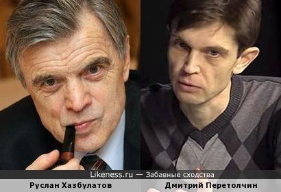 Руслан Хазбулатов и публицист Дмитрий Перетолчин
