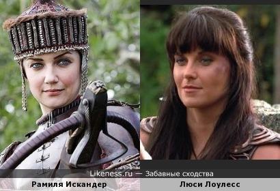 "Царица Мария Темрюковна (к/ф ""Царь"") и Зена - королева воинов"