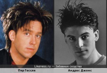 "Пер Гессле (""Roxette"") и актёр Андрас Джонс"