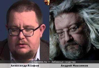 Публицист Александр Асафов и телеведущий Андрей Максимов