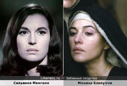 Сильвана Мангано и Моника Беллуччи