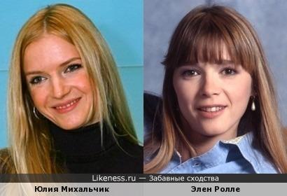 Юлия Михальчик и Элен Ролле